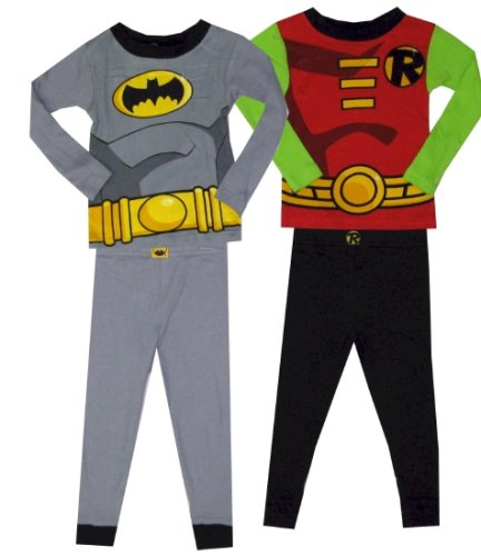 Buy Batman and Robin 2 Pair Long Sleeve Pajamas for boys