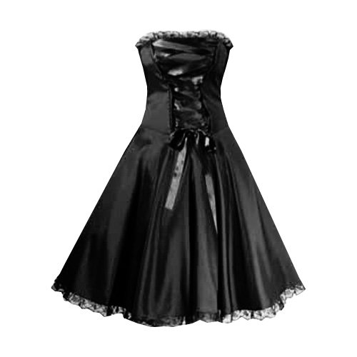 Pretty Kitty Fashion 50s Schwarz Korsett Cocktail Kleid