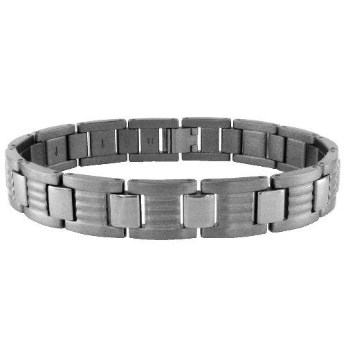 "Men's Titanium Link Bracelet, 8.75"""
