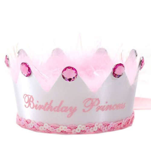 Boutique Baby Little Girl White Pink Birthday Princess Party Hat Crown