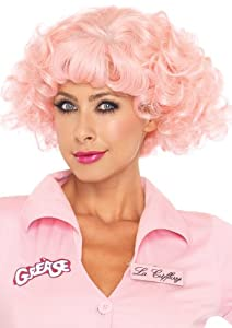 Leg Avenue Grease Frenchie Wig, Pink, One Size