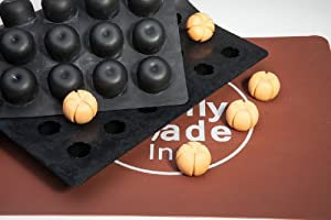 Pumpkin Chocolate Truffle, Jelly and Candy Mold, 48 cavities, One step candy pop-out