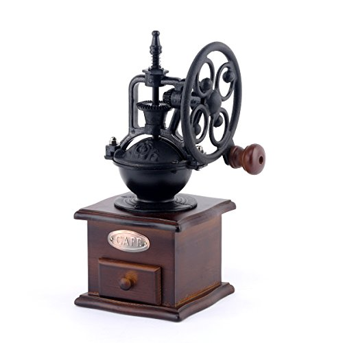 Hand Crank Coffee Grinder ~ Galleon musiclily vintage style ceramic iron burr core