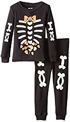 The Children's Place Little Boys' Boys Two-Piece Skeleton Pajama Set