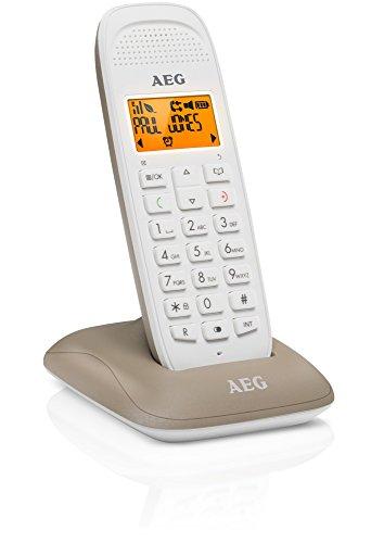 AEG téléphone DECT sans fil avec fonction mains libres -D81 -Taupe