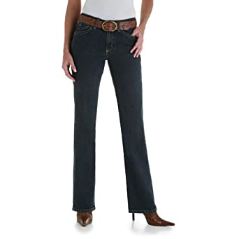 Wrangler Women's Jeans Aura Stretch Reg Rise Blue/Black Indigo 16 RT