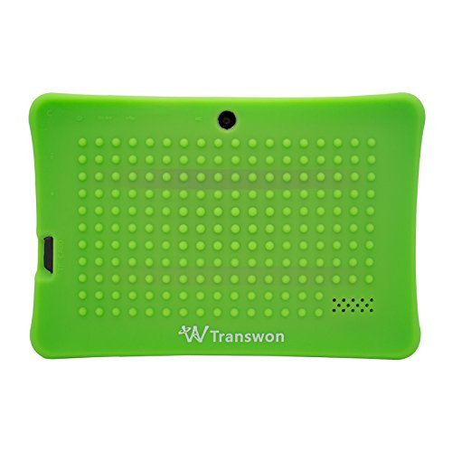 Transwon 7 Inch Shock Proof Tablet Case for Chromo Inc 7 Inch Tablet, Alldaymall A88X, NPOLE 7 Inch Tablet, Dragon Touch Y88X Plus 7, Autobeyond 7inch, NeuTab N7 Pro, Vuru A33, Tagital T7X 7 - Green (Chromo Inc 7 Inch Tablet Charger compare prices)