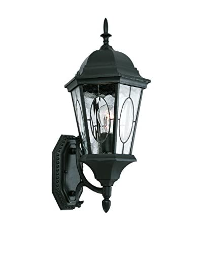 Bel Air Lighting 1-Light Coach Lantern, Black