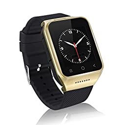 ZGPAX S8 Android 4.4 Dual Core Smart Watch Phone,1.54inch LG Multi-point Touch Screen,3G WCDMA,Bluetooth 4.0,Bulit-in GPS,2M Camera (Gold)