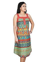 Polita Women's A-Line Multicolor Party Wear Dress