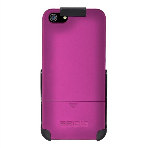 Seidio BD2HR3IPH5HP Surface Case and Holster Combo for Apple iPhone 5  Retail Packaging  Fuchsia Picture