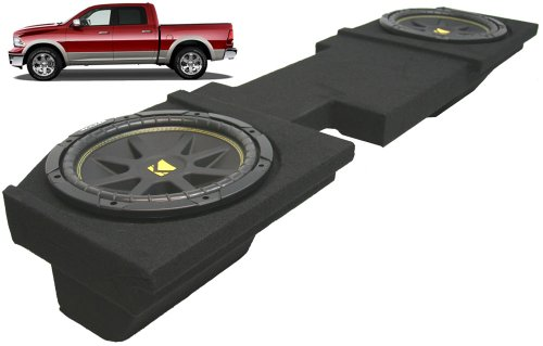 "Asc Package Dodge Ram 2002-2013 Quad Or Crew Cab Truck Dual 12"" Kicker C12 Subwoofer Sub Box Enclosure 600 Watts Peak"