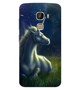 ColourCraft Fantasical Horse Design Back Case Cover for LeEco Le 2