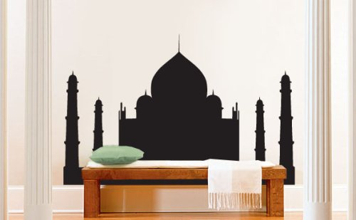 vinyl-wall-art-decal-sticker-india-taj-mahal-silhouette-154a