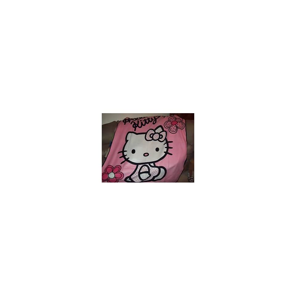 Hello Kitty Blanket Couverture Hello Kitty (50 x 60  (127 cm x 152.4 cm), Hello Kitty colors Pink White black)