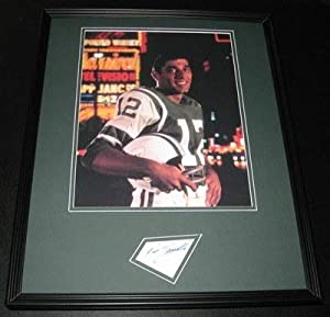 Autographed Namath Picture - Framed 16x20 Display JSA Alabama - Autographed NFL... by Sports+Memorabilia