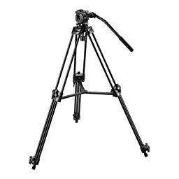 CowboyStudio 52 inches Pro Video Photo Aluminum Tripod Fluid Pan Head Kit with Handle and Case, FC270A (52inch)