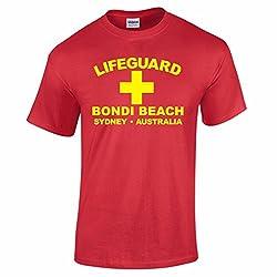 Men's Lifeguard Bondi Beach Sydney Australia Surfer Beach Fancy Dress T Shirt