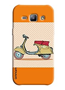 Omnam Printed back cover artistic scooter impression for Samsung Glaxy J1
