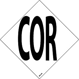 DCL144 National Marker NFPA Label Symbol, Cor, 4 Inch (5/Pk), Ps Vinyl (Pack of 5)