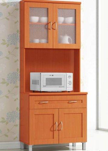 Hodedah import hikf92cherry kitchen cabinet mahogany new for Cherry mahogany kitchen cabinets