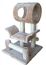 Go Pet Club Cat Tree Condo House, 18W x 17.5L x 28H Inches, Beige