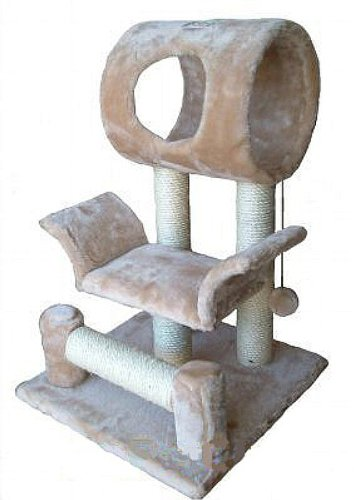 Go Pet Club Cat Tree Condo House, 18W x 17.5L x 28H Inches, Beige
