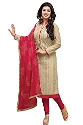 RJ Cream & Red Unstich Dress