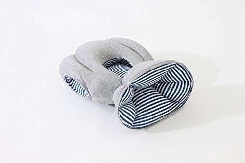[お昼寝用 携帯枕 子供用] OSTRICH PILLOW JUNIOR Hand Crafted in Spain DESIGN BY Studio Banana by kawamura-ganjavian (オーストリッチ ピロー 子供用 スタジオバナナ) MERCROS メルクロス (ウェイビーネイビー色) MERCROS(メルクロス)