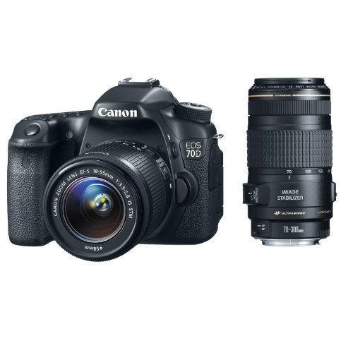 Canon EOS 70D 20.2 MP DSLR with EF-S 18-55mm IS STM and Dual Pixel CMOS AF + Canon 70-300mm f/4.0-5.6 EF IS AF Zoom Lens