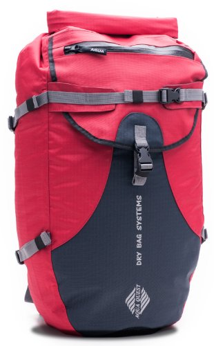 Aqua Quest 'The Stylin' Waterproof Backpack Dry Bag – 30 L / 1800 cu. in. Red Model