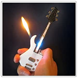 mini guitar led light refillable cigar cigarette lighter 7inch random color. Black Bedroom Furniture Sets. Home Design Ideas