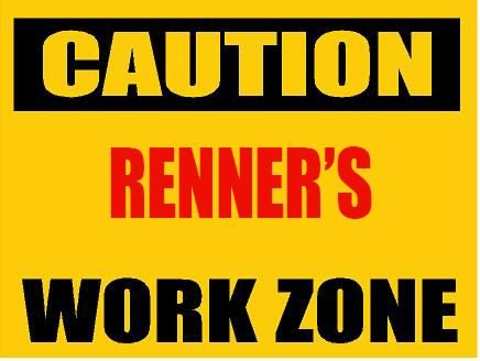 6-caution-renner-work-zone-vinyl-decal-bumper-sticker