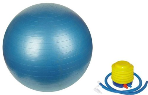 Sivan Health & Fitness Yoga Stability Ball and Pump, Blue, 65cm