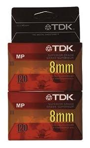 Pk/2 x 3: Tdk 8mm Camcorder Tape (P6-120MPL2)