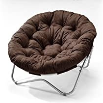 Hot Sale Directions East Oval Chair with Cocoa Microfiber