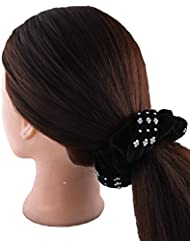 Anuradha Art Black Colour Appealing Hair Accessories Hair Band Stylish Rubber Band For Women/Girls