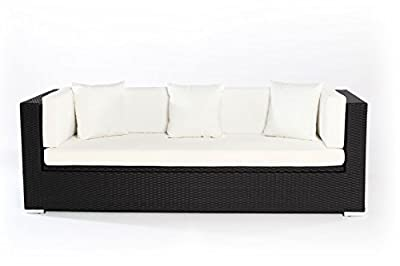 Outflexx Polyrattan Modul 3-Sitzer w1 Box, schwarz von Outflexx auf Gartenmöbel von Du und Dein Garten