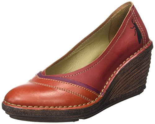 Fly LondonSell630Fly - Scarpe con Tacco donna , Rosso (Red (Streetred/Magenta/Red)), 39