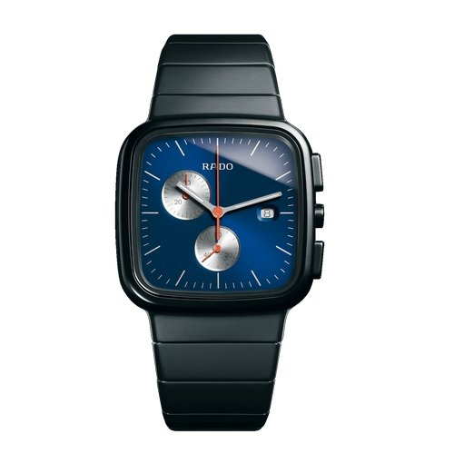 Rado D-Star Chronograph Blue Dial Ceramos and Stainless Steel Mens Watch R15937203
