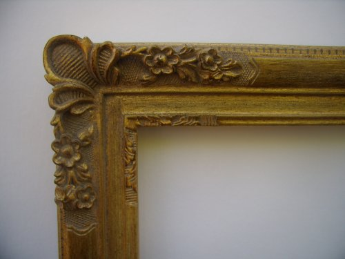 New Picture / Photo / Mirror Frame - Antique Style Ornate Gold Leaf With Floral Corner Design 20x24/20 x 24