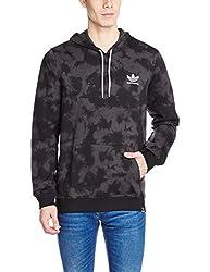 adidas Men's Hooded Cotton Sweatshirt (4056566989200_AY8890_M_Dgsogr/Black)
