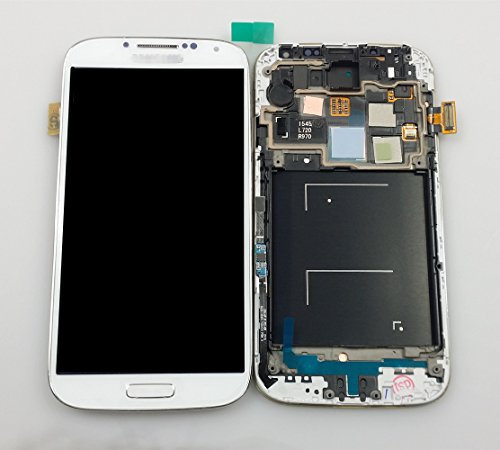 Syhoo New Oem Full Lcd Display Touch Screen Digitizer Assembly With Frame For Samsung Galaxy S4 Iv Cdma Models - Verizon I545 R970 L720 (White)