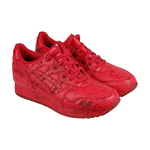Asics Gel-Lyte III Marble Pack Mens Red Leather Lace Up Sneakers Shoes 8