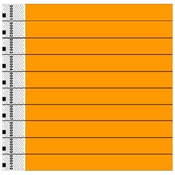 clubking-juego-de-pulseras-fibras-de-polietileno-tyvek-1000-unidades-color-naranja-fluorescente