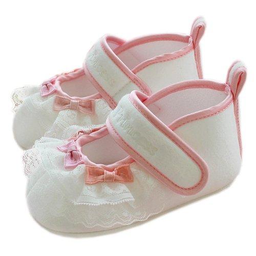 [リトルプリンセス] Little Princess ベビーシューズ ファーストシューズ 女の子用 イヴ ホワイト 11.5cm