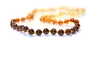 The Art of Cure™ Rainbow Baltic Amber Mens/Womens Adult Healing 25 Inch Necklace - w/The Art of Cure™ Jewelry Pouch