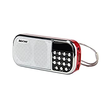 SPINC Mifine Mini FM Radio Speaker Music Player with Micro SD/TF Card/AUX/USB Disk Input,Memory Play (Q22 Red) at Sears.com