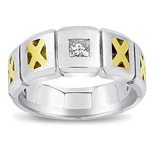 14K TWO TONE GOLD 0.33CTW DIAMOND RING