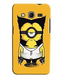 Omnam Man In Minion Printed Designer Back Cover Case For Samsung Galaxy Core Prime